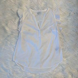 Old navy white flutter sleeve blouse
